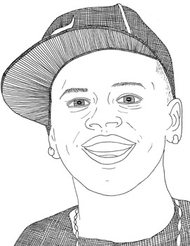 chris brown brown page colouring pages